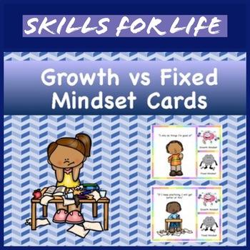 Growth Mindset vs Fix Mindset Cards