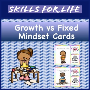 Growth Mindset vs Fix Mindset Cards