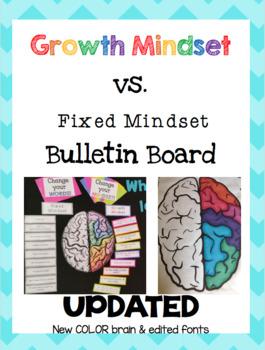 Growth Mindset vs. Fixed Mindset Bulletin Board ***UPDATED***