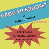 Growth Mindset vs. Fixed Mindset Posters
