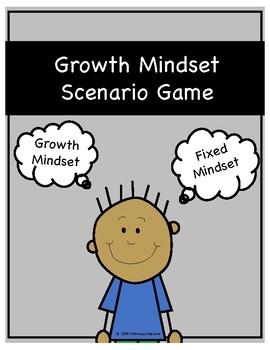 Growth Mindset vs Fixed Mindset Scenario Game (Grades 1-5)