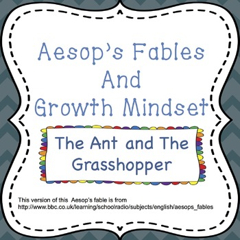 Growth Mindset with Aesop's Fables - The Ant and the Grasshopper