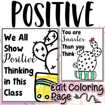 Growth Mindsets Positive Thinking Classroom Poster