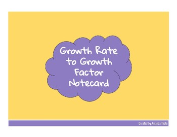 Growth Rate to Growth Factor Notecard
