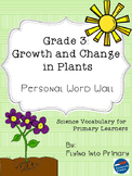 Growth and Change in Plants - Personal Word Wall