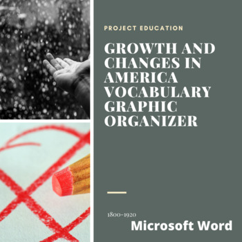 Growth and Changes in America Vocab Graphic Organizer - Microsoft Word