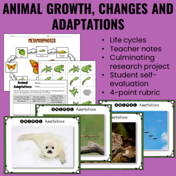 Growth and Changes in Animals - A Complete Unit
