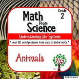 Word Problems from Science: Growth and Changes in Animals Grade 2