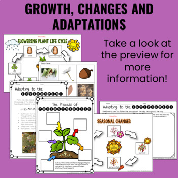 Growth and Changes in Animals and Plants BUNDLE - Ontario Curriculum Aligned