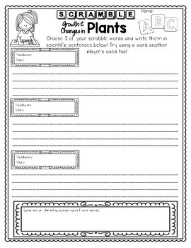 Growth and Changes in Plants | Fun & Games | Grade 3 Ontario Science