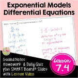 Differential Equations with Lesson Video (Unit 7)