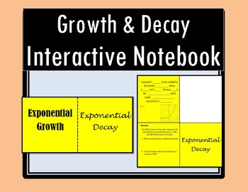 Exponential Growth and Decay Foldable