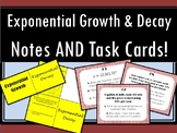 Growth and Decay - Foldable AND Task Cards!