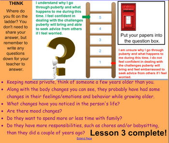 Growth and Development: Human Sexuality Grades 5 and 6 (Separate lessons)