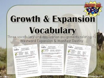 Growth and Expansion Vocabulary Activities