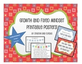 Growth and Fixed Mindset Printable Posters