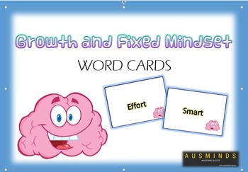 Growth and Fixed Mindset Word Cards