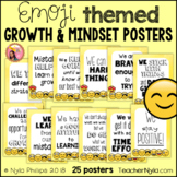 Emoji Growth Mindset Affirmation Posters
