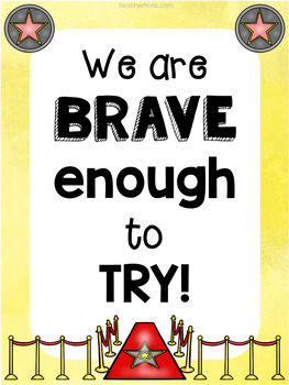 Growth and Mindset Affirmation Posters - Hollywood Theme
