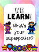 Growth and Mindset Affirmation Posters - Superhero Theme