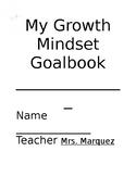 Growth mindset goal book (editable)