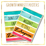 Growth mindset posters and recognition cards