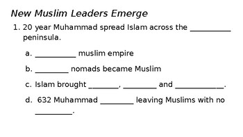 Growth of Islam 3.3.1-2