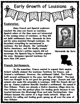 Growth of Louisiana Informational Text