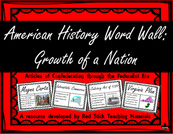 Growth of a Nation Word Wall