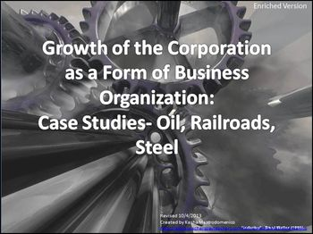 Growth of the Corporation as a Form of Business Oil, Railroads, Steel Bundle