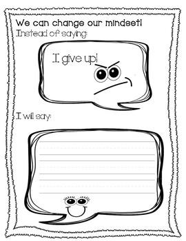 Growth vs. Fixed Mindset Booklet (Mindfulness, Social-Emotional, Self-regulation