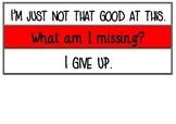 Growth vs. Fixed mindset phrases display!