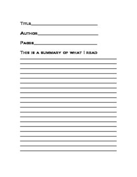 Graphic Organizer Book Reports