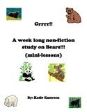 Grrr! Non-fiction Mini-lessons on Bears