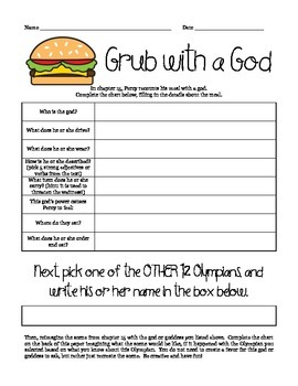 """Grub with a God"" - Lightning Thief Creative Writing"
