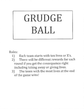 Grudge Ball - Graph Linear Equations