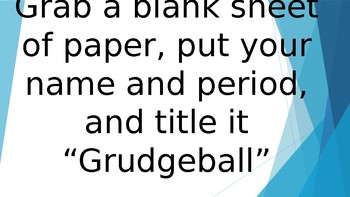Grudgeball Game- Domain, Slope, Parallel and Perpendicular, Inequalities