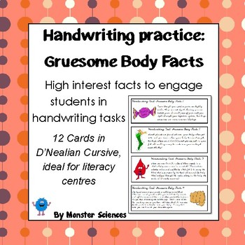Gruesome Body Facts - Fun handwriting practice