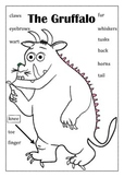 Gruffalo Body Vocabulay Match