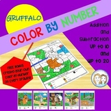 Gruffalo - Color by Number, Addition and Subtraction (up to 10 & up to 20)