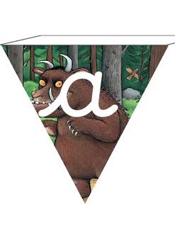 Gruffalo Cursive Letter Bunting! Cursive Gruffalo Alphabet Display for Classroom