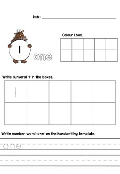 Gruffalo Number Tracing/Writing Activity Sheet
