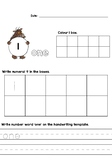 Gruffalo Number Tracing/Writing Activity Sheet