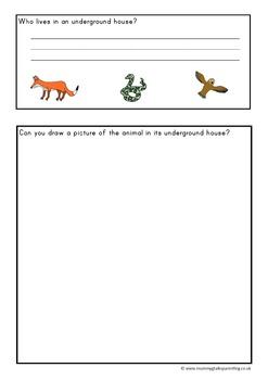 Grrr...uffalo themed preschool math and english resources pack.