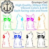 Grumps Cat Clipart {Anchor Art Man}