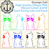 Grumps Cat Clipart {Anchor Art Man}