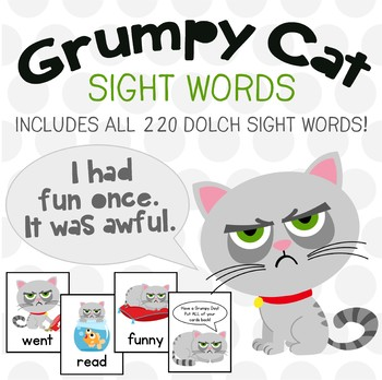 Grumpy Cat Dolch Sight Words Game!  All 220 Dolch Words - It's FUN to be Grumpy!