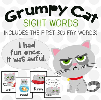 Grumpy Cat Fry Words Game! The First 300 FRY Words - It's FUN to be Grumpy!
