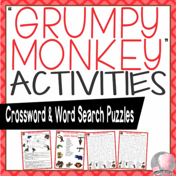 Grumpy Monkey Activities Lang Crossword Puzzles and Word Searches
