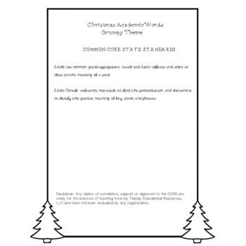 Christmas & Grumpy Literacy